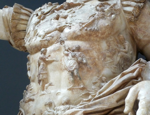 Detail of center of cuirass of Augustus of Prima Porta