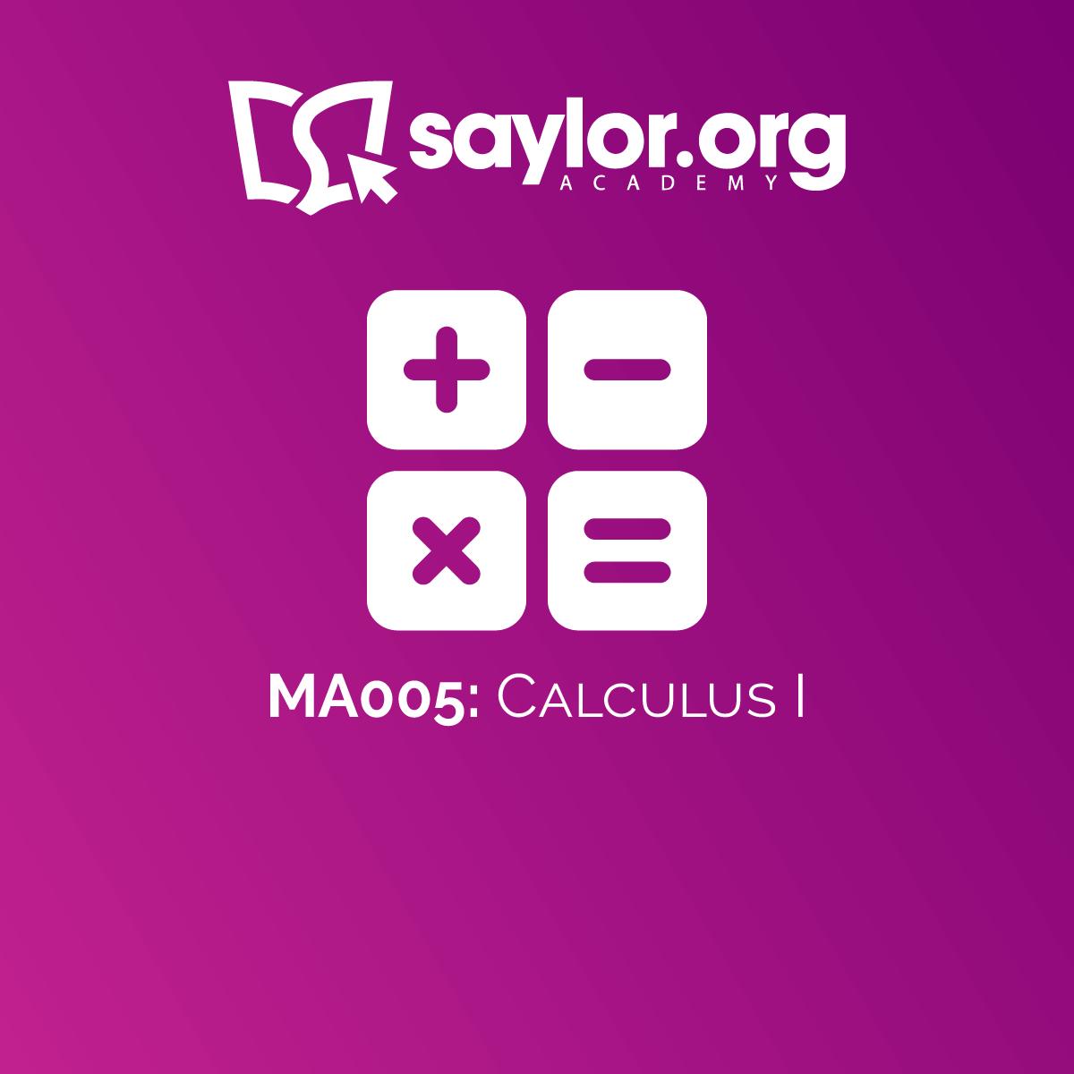 MA005: Calculus 1 | Saylor Academy