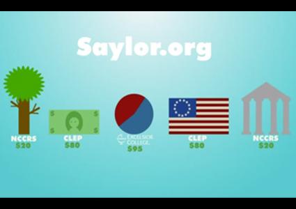 Saylor.org credit options - StraighterLine, Excelsior College, CLEP, etc.