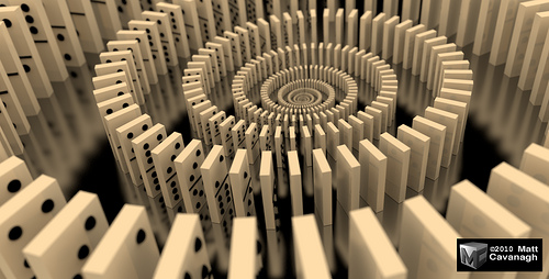 Domino Spiral    Domino Chain Reaction