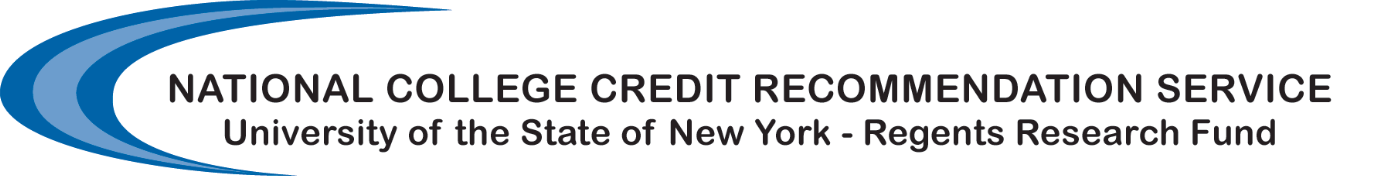 National College Credit Recommendation Service