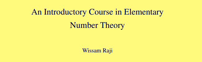 Free Elementary Number Theory Open Textbook Released Under CC BY