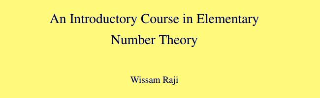 Elem. Number Theory Textbook