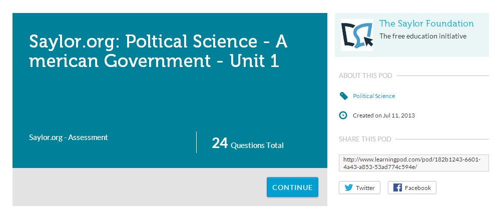 Saylor Political Science on Learningpod