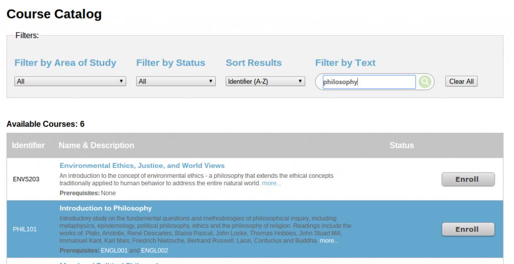 New ePortfolio Course Catalog