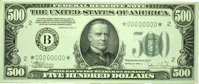 500 dollar bill