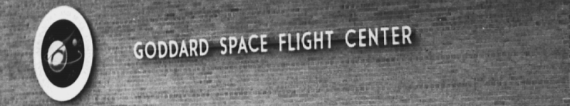 Goddard Space Flight Center sign, from the dedication ceremony