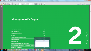 Image of a section of an annual report from BASF (www.basf.com).