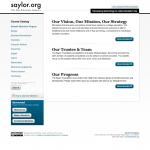 Screenshot of saylor.org February 2011