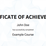 Accredible student certificate