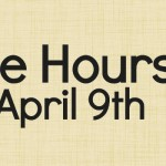 Office Hours April 9th 2015