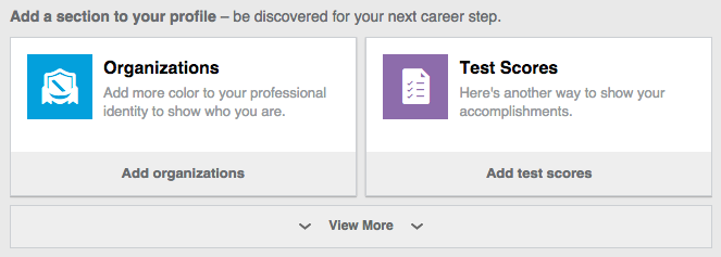 LinkedIn Add Section
