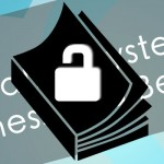 Banner image of book with unlocked padlock