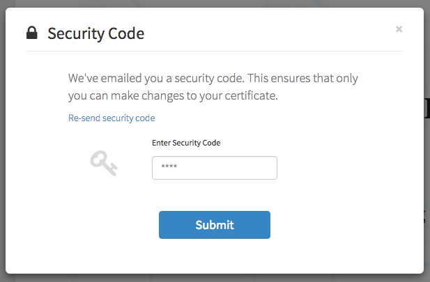 Accredible Security Code