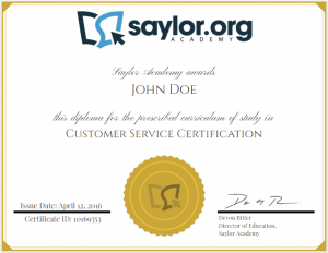 Saylor Academy meta-certificate example