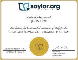 Customer Service Diploma