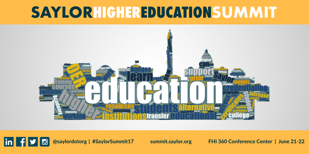 Saylor Higher Education Summit- The Agenda has Arrived!