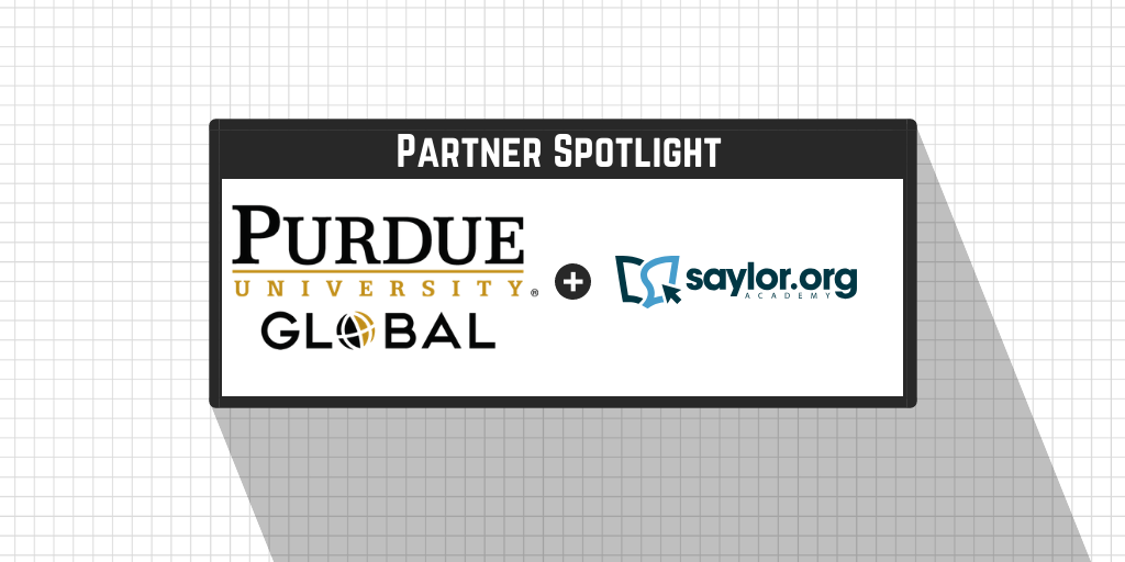 Purdue University Global and Saylor Academy